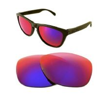 NEW POLARIZED CUSTOM  LIGHT +RED LENS FOR OAKLEY FROGSKINS SUNGLASSES